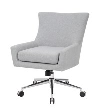 Boss Linen Accent/Desk Chair, Granite  BossChair