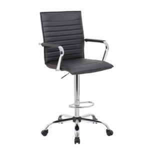 office chair vs stool rolling shower with padded seat bosschair a norstar company boss ribbed design drafting