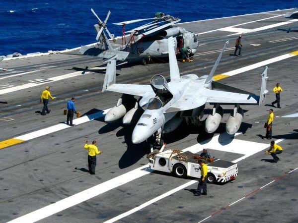 FA 18 Hornet on board the USS Ronald Reagan