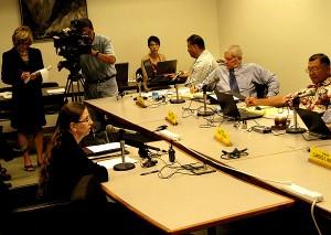 Judge Kate Leonard testifying at Senate JGO committee