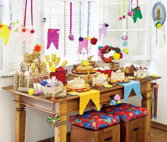 Festa Junina - mesa