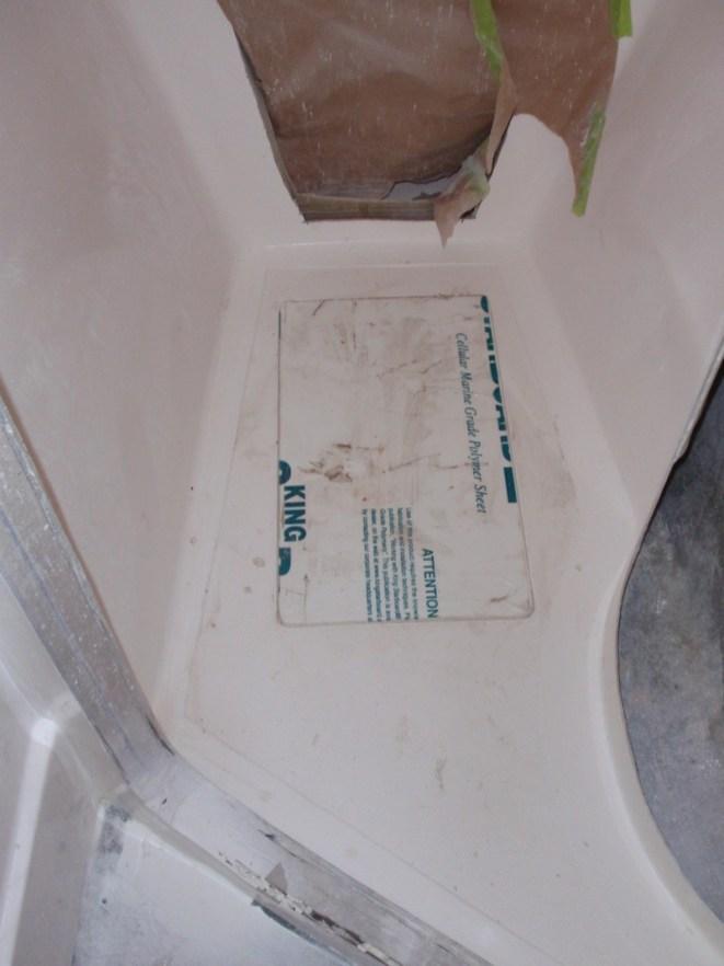 Starboard bathroom floor