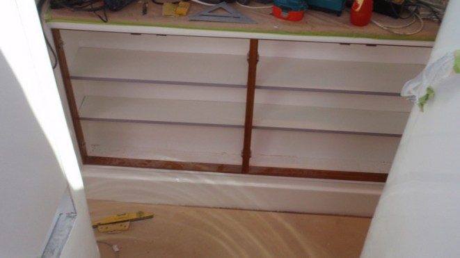 Cupboard shelving started today