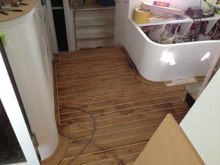 Saloon floor almost done