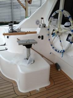 Helm seat being prepared