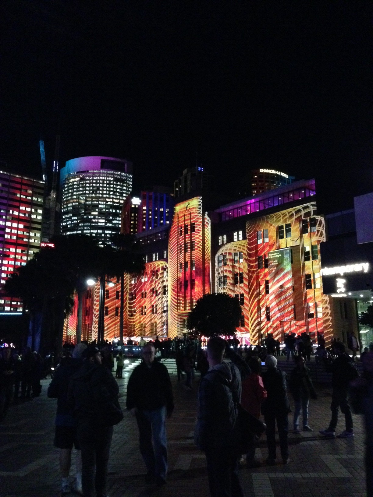 Vivid light display in the harbour - amazing!