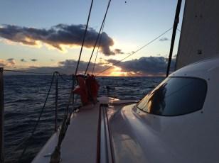 Sunrise leaving Port Stephens.