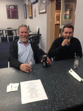 Father and son enjoying a Bundy!