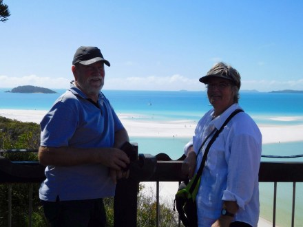Us ... Whitehaven Beach Lookout.