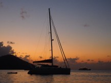 A beautiful sunset in Cid Harbour