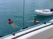 Swimming at Whitehaven.