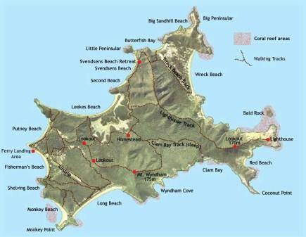 Great Keppel map.