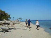 Walking around the island