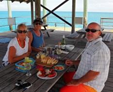 Our prawn lunch with Gary & Annie