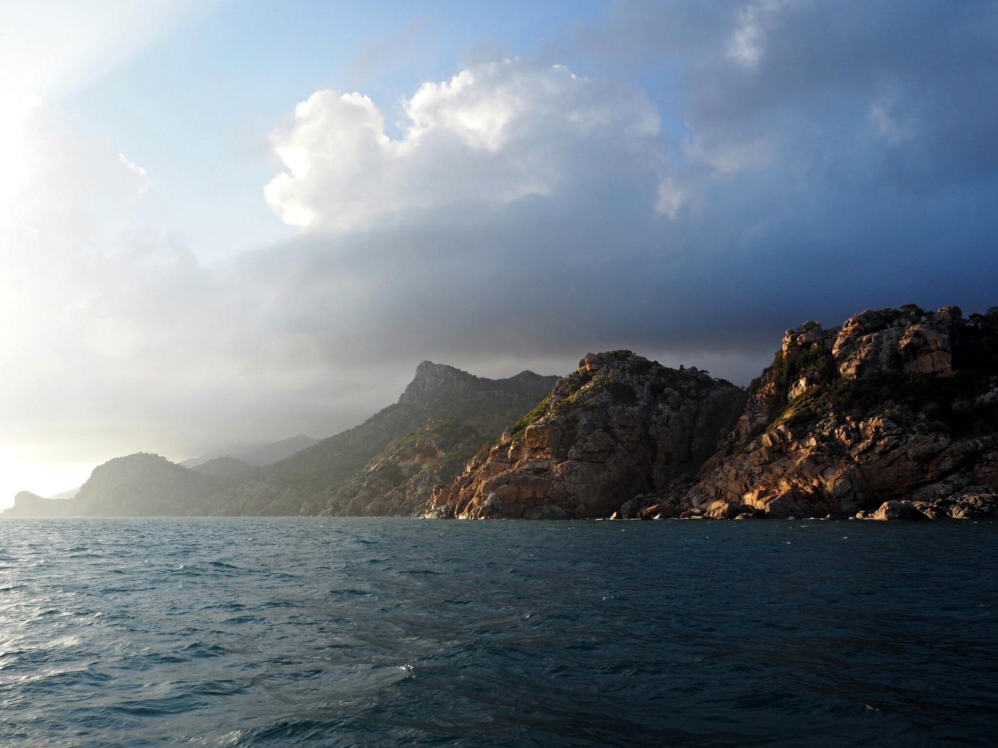 Leaving Cape Upstart this morning