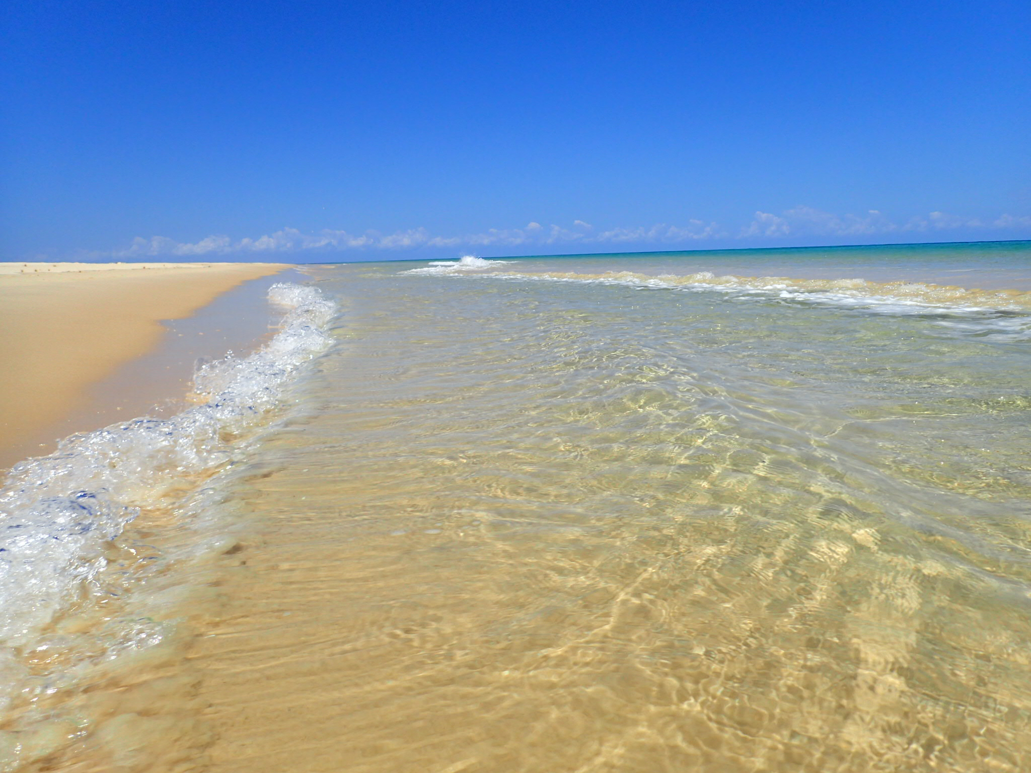 The clear waters of Fraser Island.