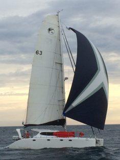 Bossa Nova with kite up. Pic taken by Pas de Chat.