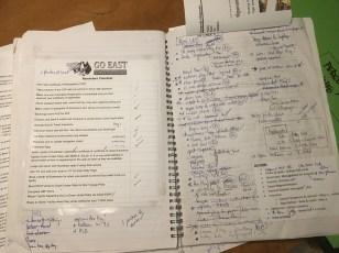Go East Checklist