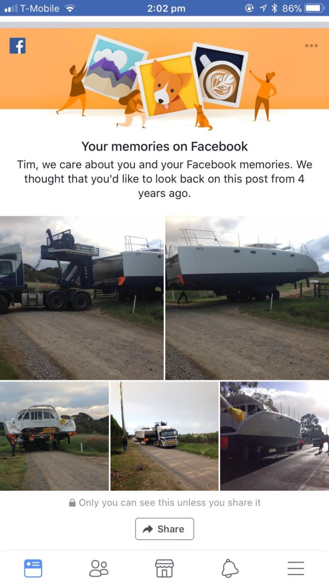 The Bossa turned 4 yo a few days ago ... a FB memory from our son Tim