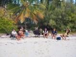 The beach barbecues & sundowners!