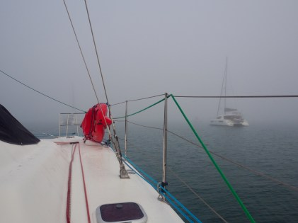 Inskip Point ... we were not going anywhere in this fog!