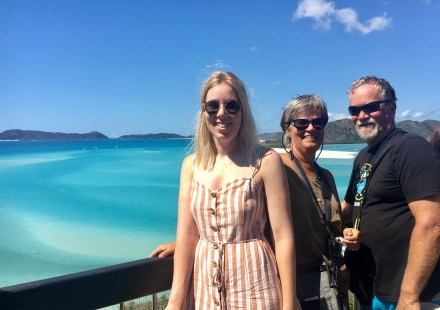 Abbey came for 12 days in the Whitsundays
