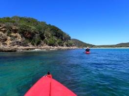 Kayaking up Leeke's Creek