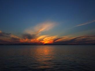 A fiery sunset taken from Fisherman's Beach