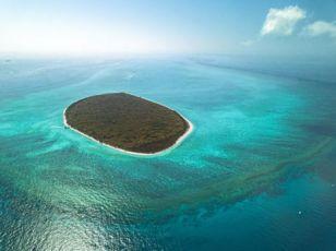 North West Island aerial photo