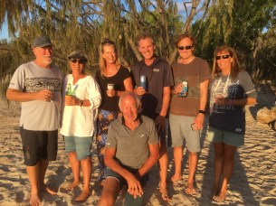 Five Fusions gathering at the unofficial YC at Svendsens Beach