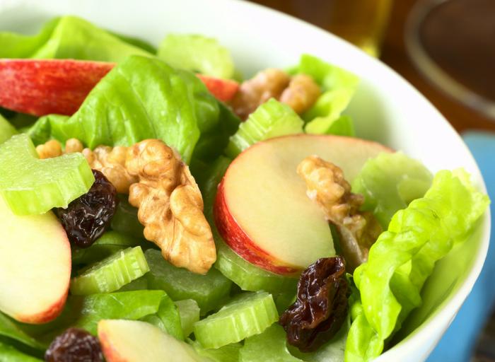 Kale Waldorf Salad With Avocado & Goat Cheese