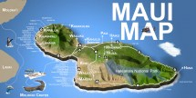 Hawaii Islands Maui Map