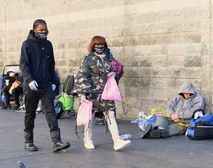 Blac Chyna and boyfriend Lil Twin visit Skid Row