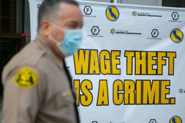 Sheriffs press conference to announce a sheriffs task force targeting wage theft