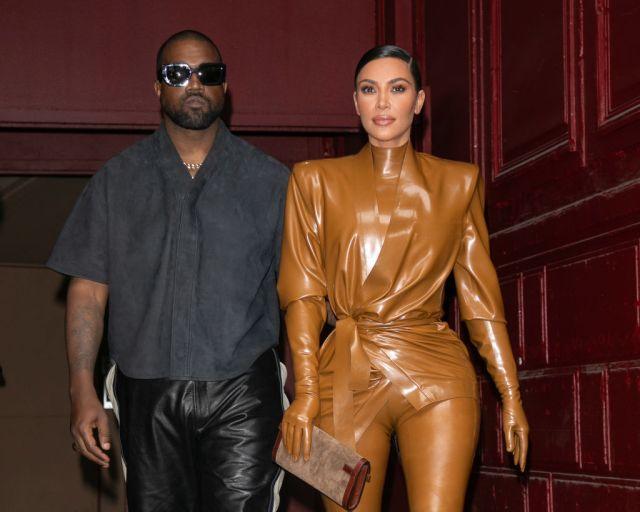 Kanye West & Kim Kardashian Leave K.West's Sunday Service At Theatre Des Bouffes Du Nord - Paris Fashion Week Womenswear Fall/Winter 2020/2021