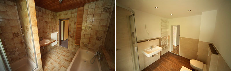 Badrenovierung  Badsanierung in Nrnberg  Bad saniert aus einer Hand