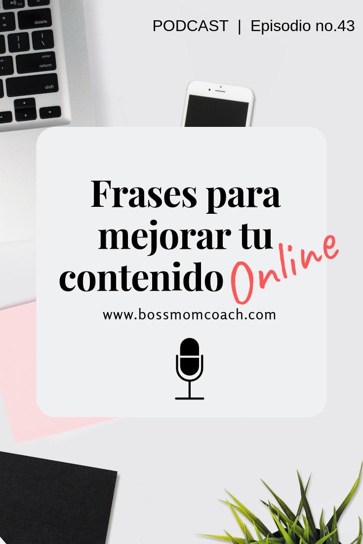 Frases para mejorar tu contenido online