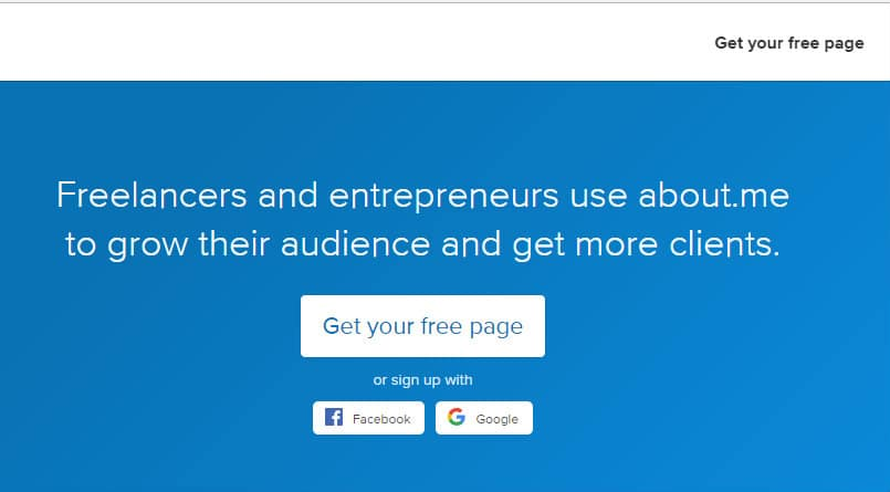 Build a Freelance Portfolio With About.me