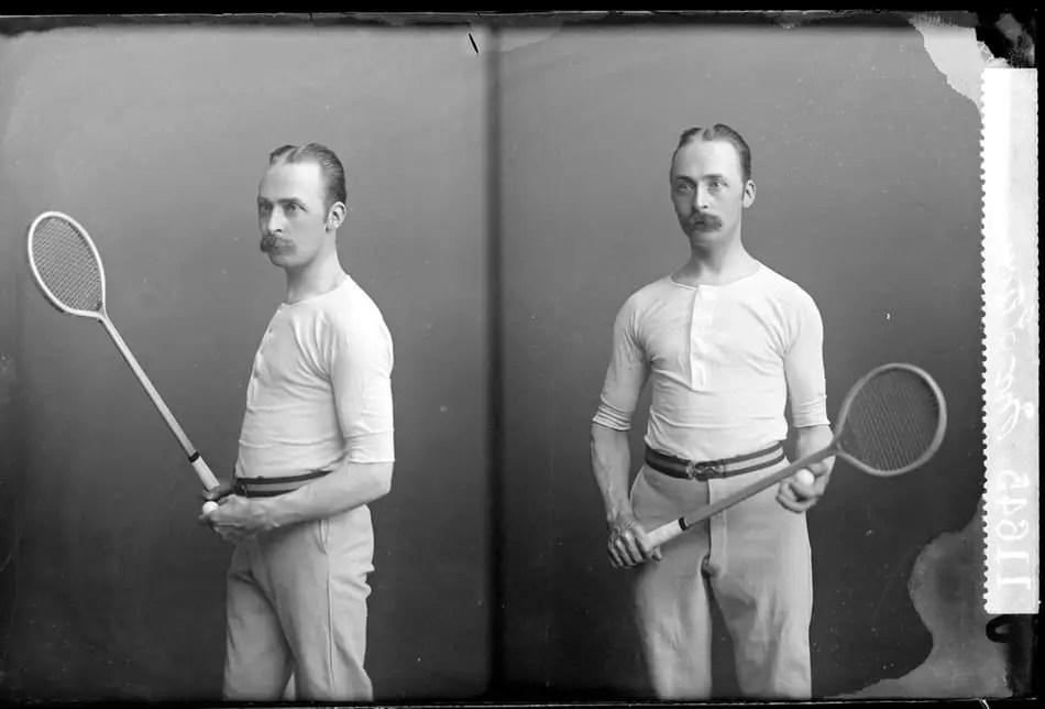old squash racquet