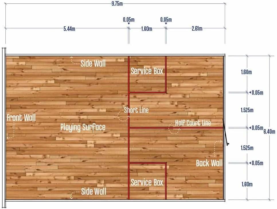 Squash Singles Court Measurements