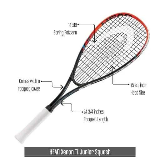 Junior-Squash-Racquet-HEAD-Xenon-Ti