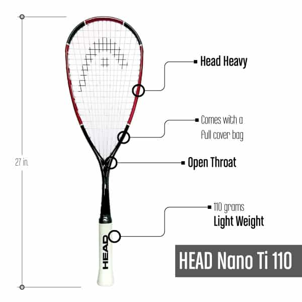 Squash Racquet under $100_HeadNanoTi