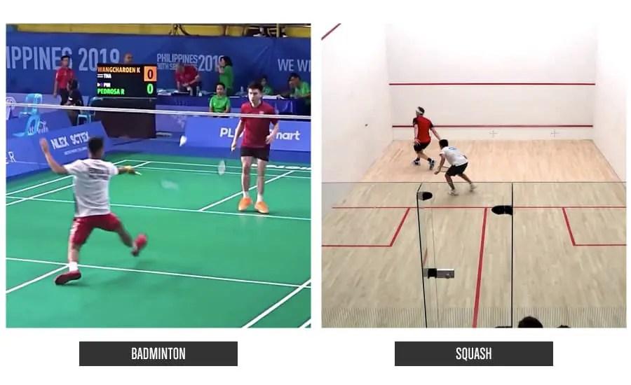 BadmintonVSSquash