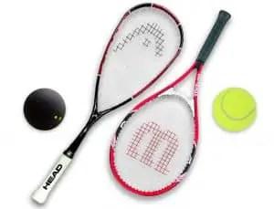 TennisVSSquashEquipment