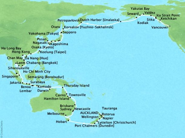 Grand Pacific Explorer Route Map