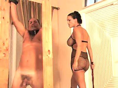 mistress brutally whips