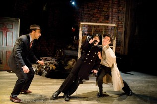 Aram Aghazarian, Roblin Gray Davis and Jed Hancock-Brainerd in Alfred Hitchcock's The 39 Steps at Perseverance Theatre 2011