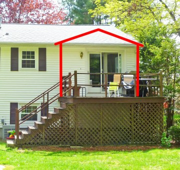Deck for conversion, Burlington MA