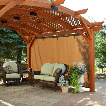 Curved roof pergola - What Is A Pergola And Why Would Your Deck Want One? – Suburban