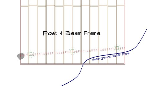 Post and Beam frame Angled beam Crop